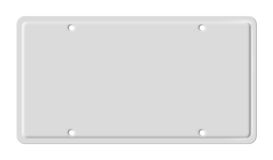 Blank car plate. Illustration of isolated blank vehicle car plate Stock Photos