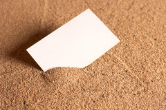 Blank card Stock Image