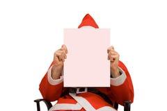 Blank card. Santa Claus and business card Stock Photos