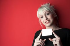 Blank card. Put your message on blank card. Add concept Stock Photo