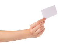 Blank card Stock Images