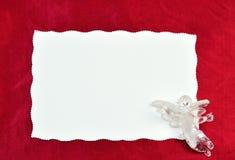 Blank card Stock Image