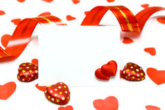 Blank card Royalty Free Stock Photo