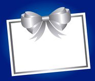 Blank card bow Royalty Free Stock Images