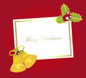 Blank card christmas Royalty Free Stock Images
