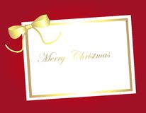 Blank card christmas Stock Photo