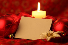 Blank card on Christmas background Royalty Free Stock Photography