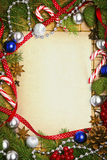 Blank card for christmas greetings Royalty Free Stock Images