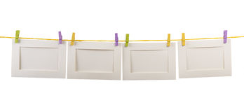 Blank card  clothesline Stock Photo