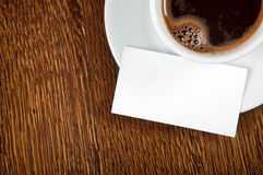 Blank card with coffee cup Stock Image