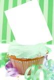 Blank card cupcake Stock Image