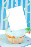Blank card cupcake Royalty Free Stock Image
