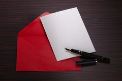 Blank card and envelope Royalty Free Stock Images