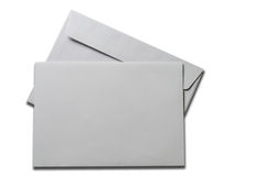 Blank card and envelope. With clipping path Royalty Free Stock Image