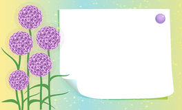 Blank card with flowers Royalty Free Stock Photo