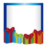 Blank card with gifts Royalty Free Stock Photos
