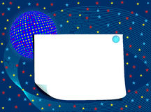 Blank card with globe and stars Royalty Free Stock Image