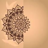 Blank card with half lace mandalas. Royalty Free Stock Image