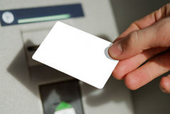 Blank card in the hand Royalty Free Stock Photo