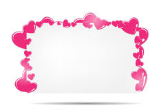Blank card with hearts vector illustration Stock Photography