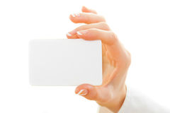 Blank card isolated on white Royalty Free Stock Images