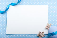 Blank card for newborn boy Stock Photos
