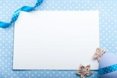Blank card for newborn boy Stock Photos