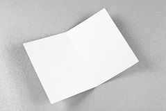 Blank card over silver background Stock Photo
