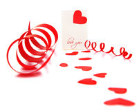 Blank card with red heart Stock Image