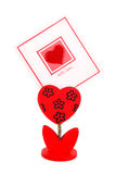 Blank card with red heart Royalty Free Stock Images