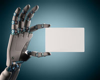Blank Card Robot Royalty Free Stock Photography