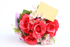 Blank card and rose Royalty Free Stock Photography