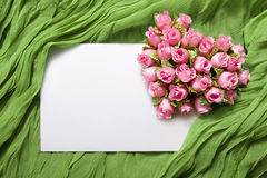 Blank card with roses Stock Photography