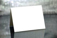 Blank card stock photo