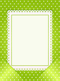 Blank card slotted into a green background Royalty Free Stock Photo