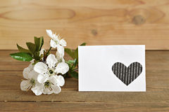 Blank card with spring flowers Royalty Free Stock Photo