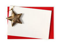 Blank card with star Royalty Free Stock Photo