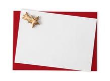 Blank card with star Stock Photos