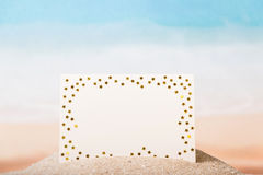 Blank card with stars Stock Image
