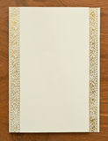 Blank card with thai traditional frame Royalty Free Stock Photography