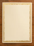 Blank card with thai traditional frame Royalty Free Stock Photos