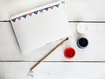 Blank card with a US Flag pattern royalty free stock photography