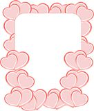 Blank card on valentine confetti make of hearts Royalty Free Stock Photography