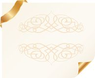Blank card vignette one Royalty Free Stock Images
