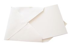 Blank Card on White Royalty Free Stock Image