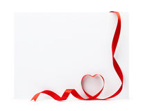 Blank Card With Ribbon Royalty Free Stock Photos