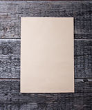 Blank card  on  wooden background Royalty Free Stock Images