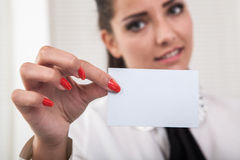 Blank card Royalty Free Stock Photography