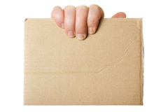 Blank cardboard Royalty Free Stock Photo