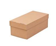 Blank cardboard box Royalty Free Stock Photos
